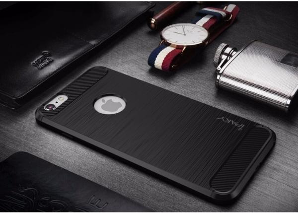 Husa iPhone 8 iPaky Fiber, Negru [2]