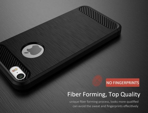 Husa iPhone 8 iPaky Fiber, Negru [3]