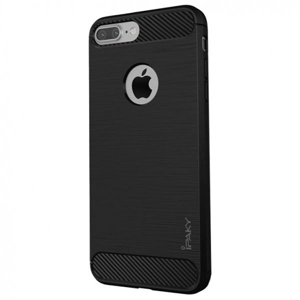 Husa iPhone 8 Plus iPaky Fiber, Negru 0