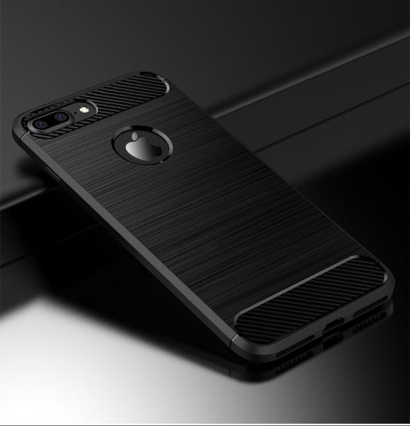 Husa iPhone 8 Plus iPaky Fiber, Negru 1