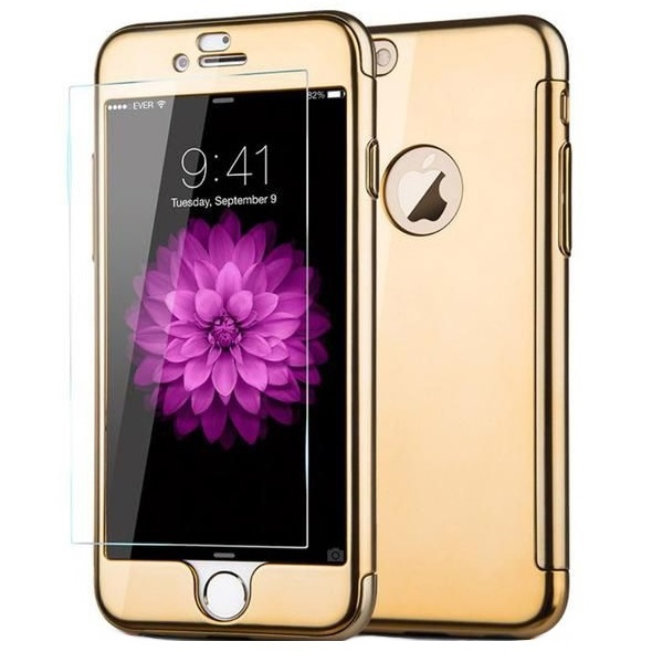 Husa Joyroom 360 + folie sticla iPhone 6 / 6S, Gold 0