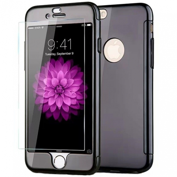 Husa Joyroom 360 + folie sticla iPhone 6 Plus / 6S Plus, Negru [0]
