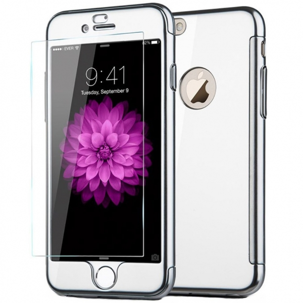 Husa Joyroom 360 + folie sticla iPhone 6 Plus / 6S Plus, Silver 0
