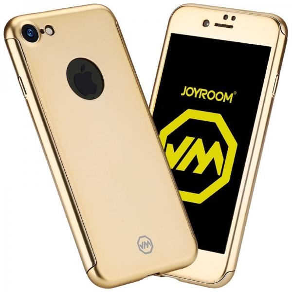 Husa Joyroom 360 + folie sticla iPhone 7, Gold 0