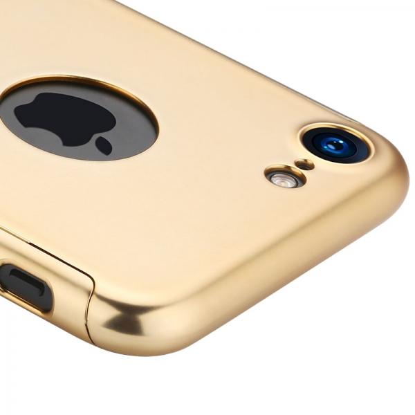 Husa Joyroom 360 + folie sticla iPhone 7, Gold 2