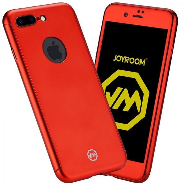Husa Joyroom 360 + folie sticla iPhone 7 Plus, Red 0