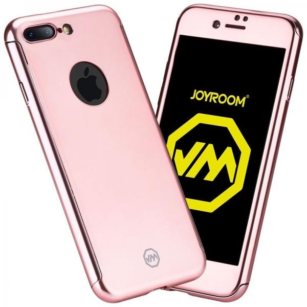 Husa Joyroom 360 + folie sticla iPhone 7 Plus, Rose Gold [0]