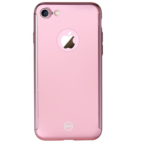 Husa Joyroom 360 + folie sticla iPhone 7, Rose Gold 1