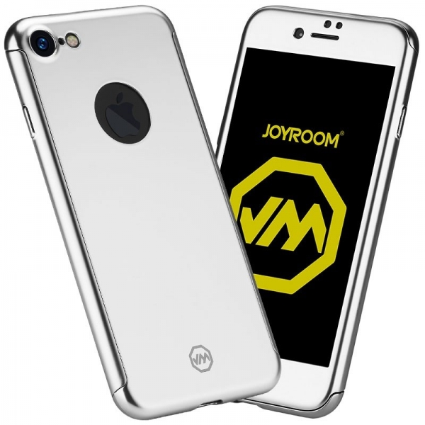 Husa Joyroom 360 + folie sticla iPhone 7, Silver 0
