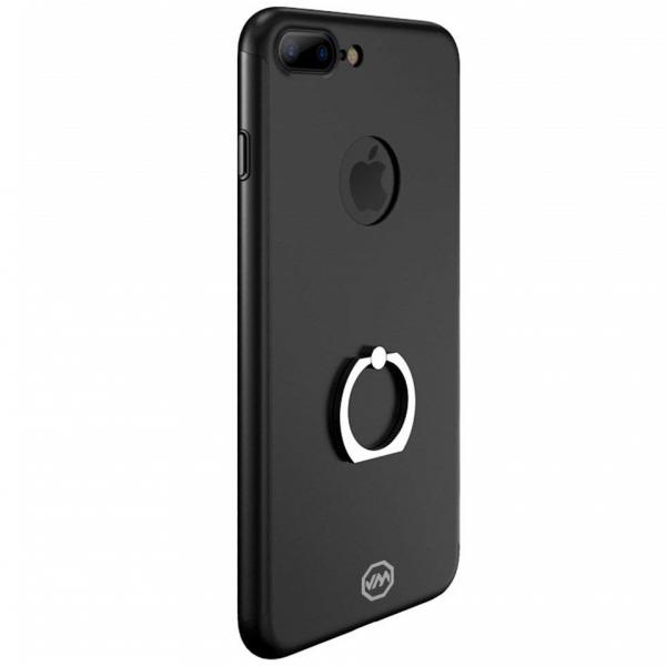 Husa Joyroom 360 Ring + folie sticla iPhone 7 Plus, Black 0