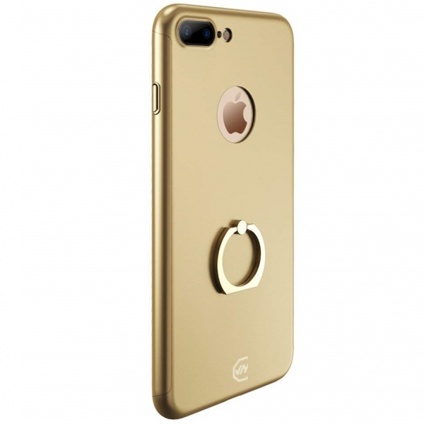 Husa Joyroom 360 Ring + folie sticla iPhone 7 Plus, Gold [0]
