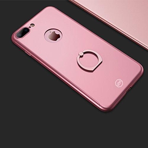 Husa Joyroom 360 Ring + folie sticla iPhone 7 Plus, Rose Gold 1