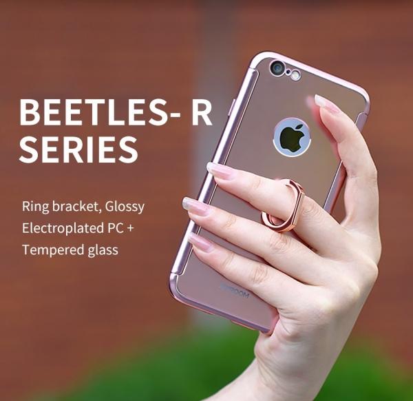 Husa Joyroom 360 Ring + folie sticla iPhone 7, Silver [2]