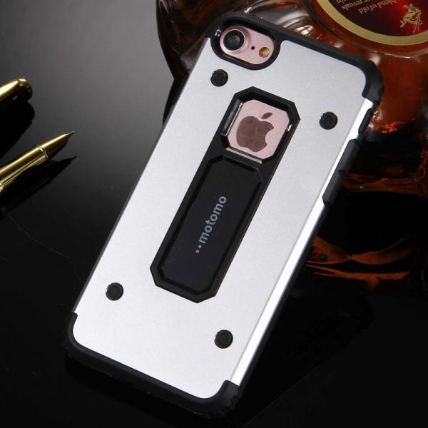 Husa Motomo Armor Hybrid iPhone 6 / 6S, Silver 2