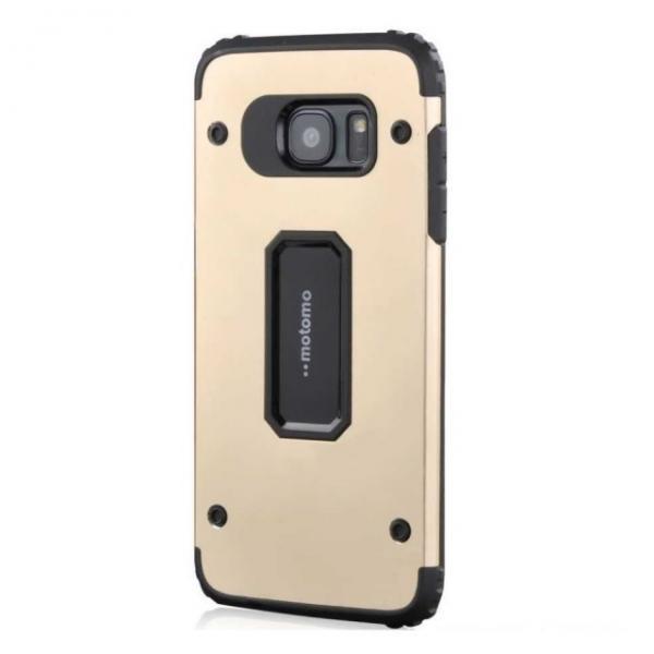 Husa Motomo Armor Hybrid Samsung Galaxy S7 Edge, Gold 0