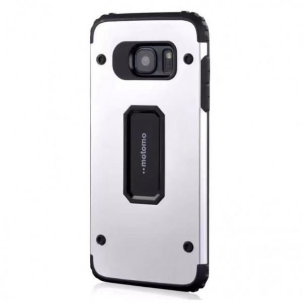 Husa Motomo Armor Hybrid Samsung Galaxy S7 Edge, Silver 0
