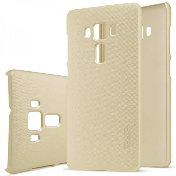 Husa Nillkin Frosted + folie protectie Asus ZenFone 3 Deluxe ZS570KL, Gold 0