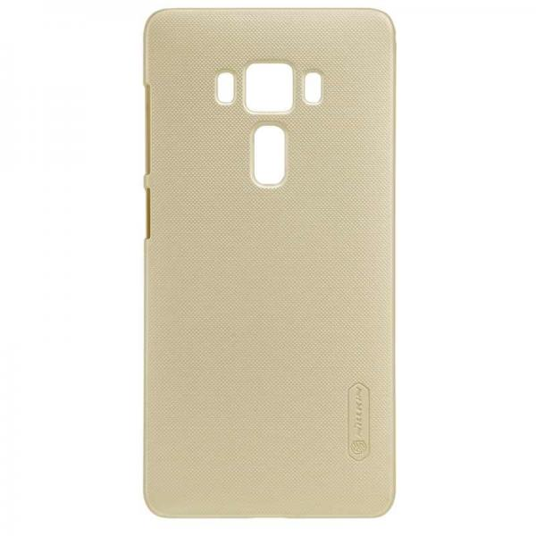 Husa Nillkin Frosted + folie protectie Asus ZenFone 3 Deluxe ZS570KL, Gold 2