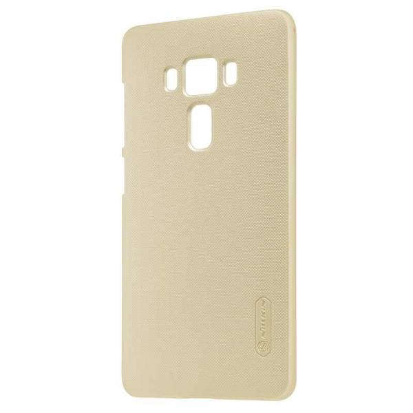 Husa Nillkin Frosted + folie protectie Asus ZenFone 3 Deluxe ZS570KL, Gold 1