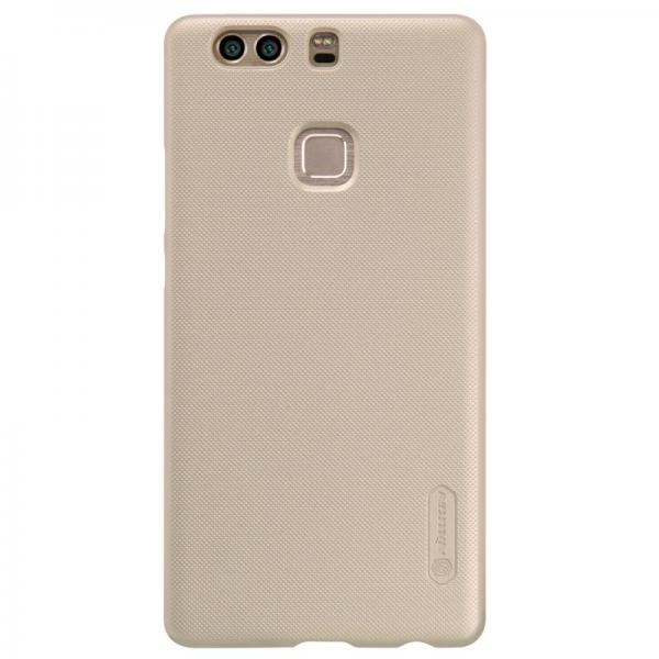 Husa Nillkin Frosted + folie protectie Huawei P9 Plus, Gold
