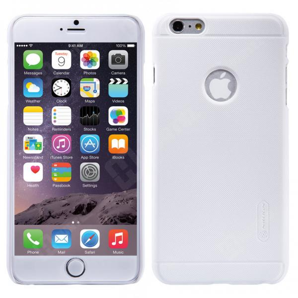 Husa Nillkin Frosted + folie protectie iPhone 6 Plus / 6S Plus, Alb 0