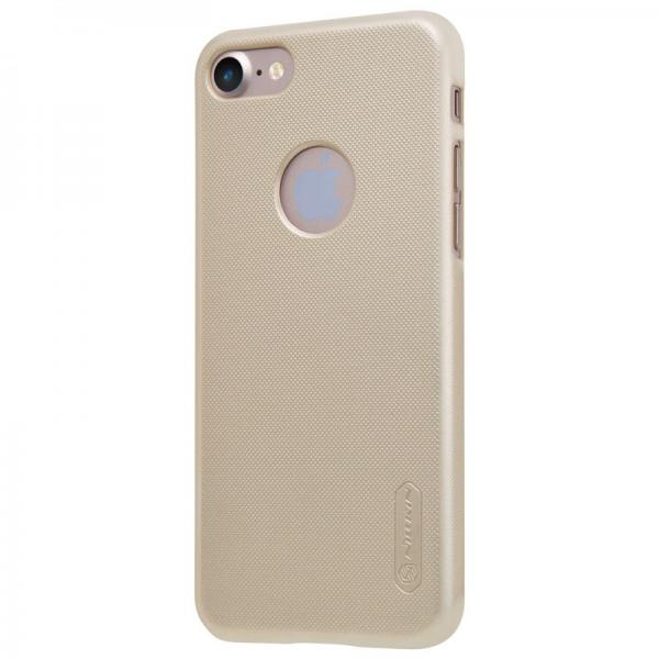 Husa Nillkin Frosted + folie protectie iPhone 7, Gold