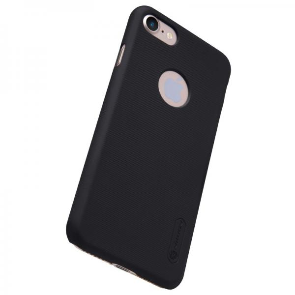 Husa Nillkin Frosted + folie protectie iPhone 7, Negru 2