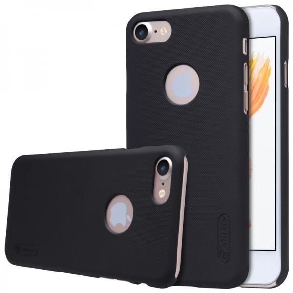 Husa Nillkin Frosted + folie protectie iPhone 7, Negru 0