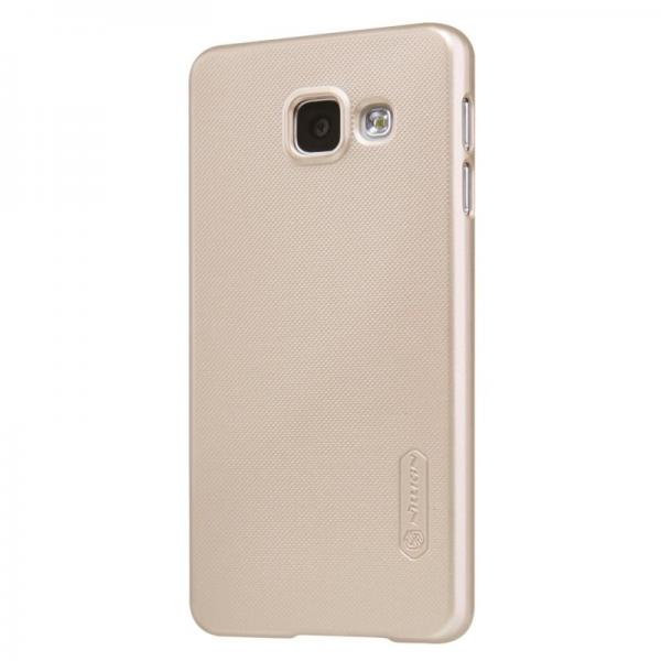 Husa Nillkin Frosted + folie protectie Samsung Galaxy A3 (2016), Gold 2