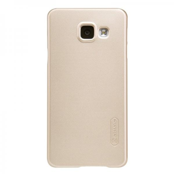 Husa Nillkin Frosted + folie protectie Samsung Galaxy A3 (2016), Gold [1]