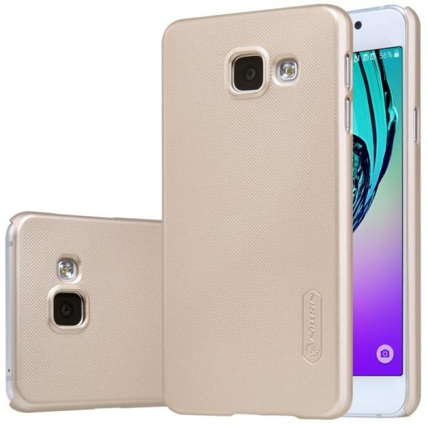 Husa Nillkin Frosted + folie protectie Samsung Galaxy A3 (2016), Gold 0