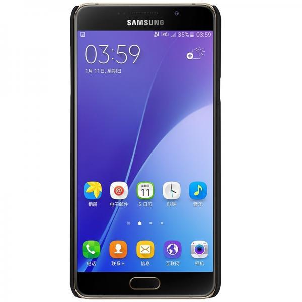 Husa Nillkin Frosted + folie protectie Samsung Galaxy A7 (2016), Negru [2]
