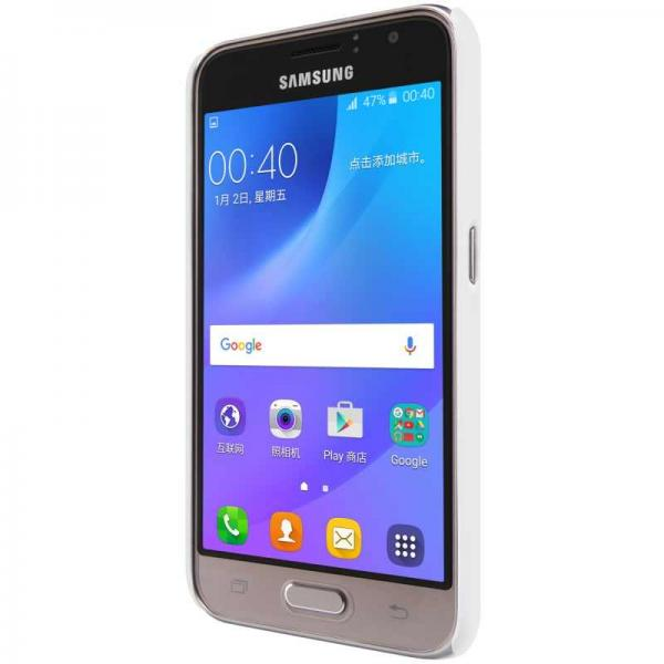 Husa Nillkin Frosted + folie protectie Samsung Galaxy J1 (2016), Alb [3]