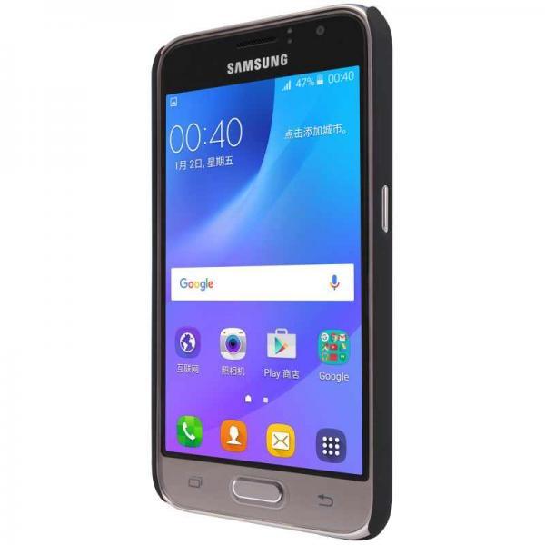 Husa Nillkin Frosted + folie protectie Samsung Galaxy J1 (2016), Negru 4