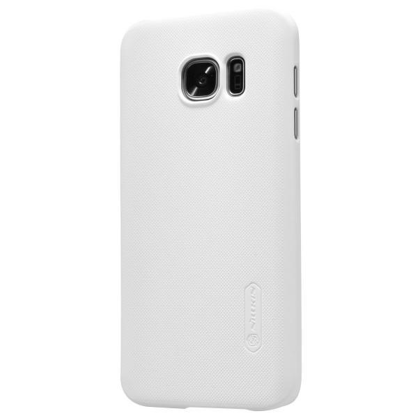 Husa Nillkin Frosted + folie protectie Samsung Galaxy S7, Alb 1