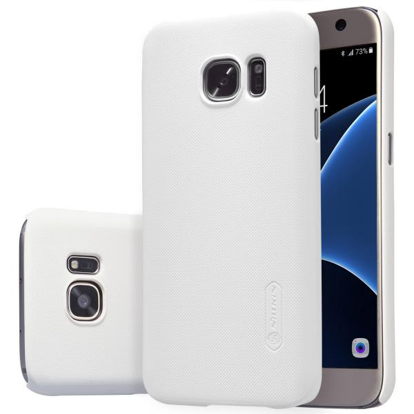 Husa Nillkin Frosted + folie protectie Samsung Galaxy S7, Alb 0