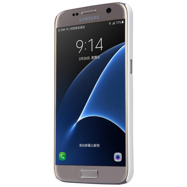 Husa Nillkin Frosted + folie protectie Samsung Galaxy S7, Alb 3