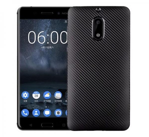 Husa Nokia 6 i-Zore Carbon, Negru [0]