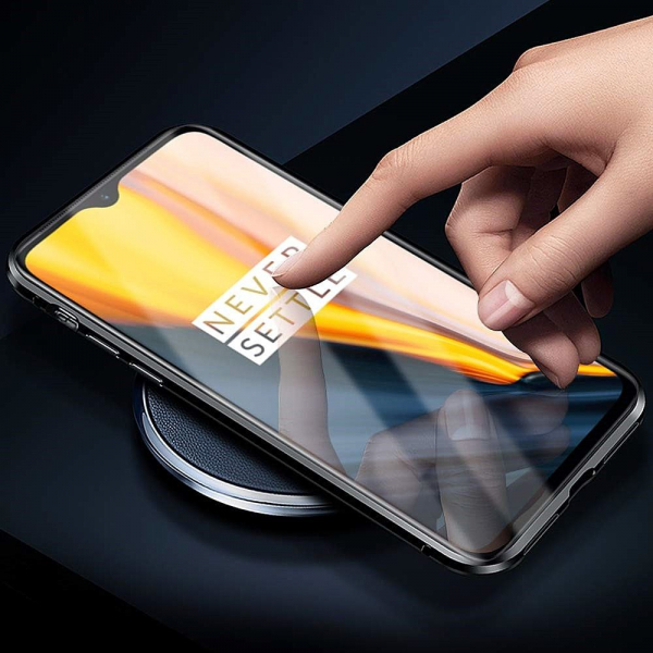 Husa OnePlus 7 Magnetic Glass 360 (sticla fata + spate), Negru [3]