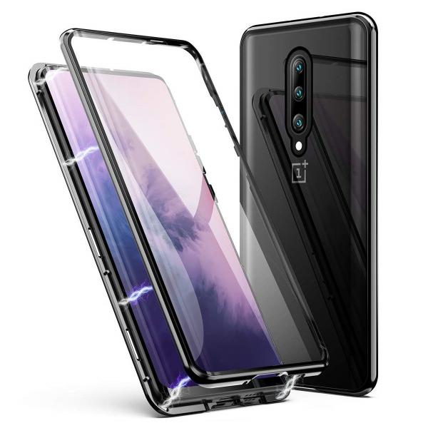 Husa OnePlus 7 Pro Magnetic Glass 360 (sticla fata + spate), Negru 0