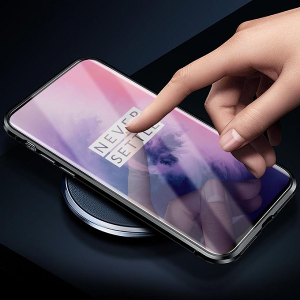 Husa OnePlus 7 Pro Magnetic Glass 360 (sticla fata + spate), Negru 3