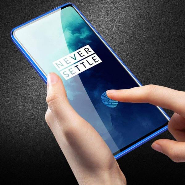 Husa OnePlus 7T Pro Magnetic Glass 360 (sticla fata + spate), Albastru 3