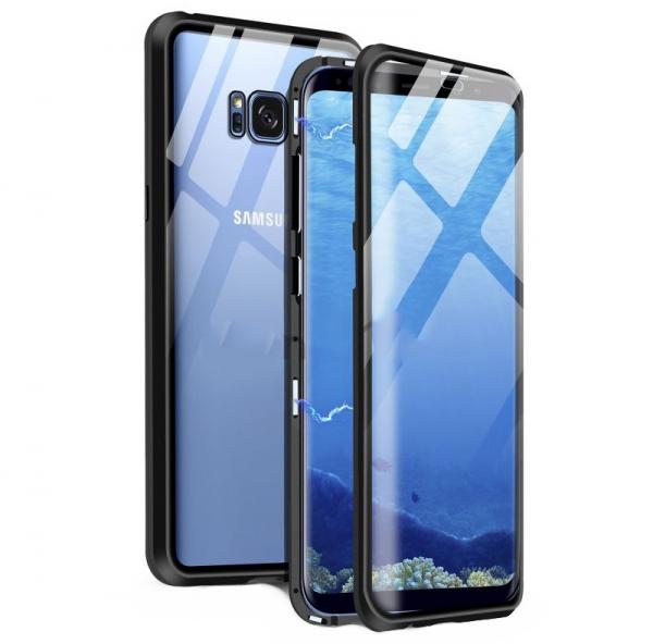 Husa 360 Magnetic Glass (sticla fata + spate) pentru Samsung Galaxy S8 Plus, Negru 0