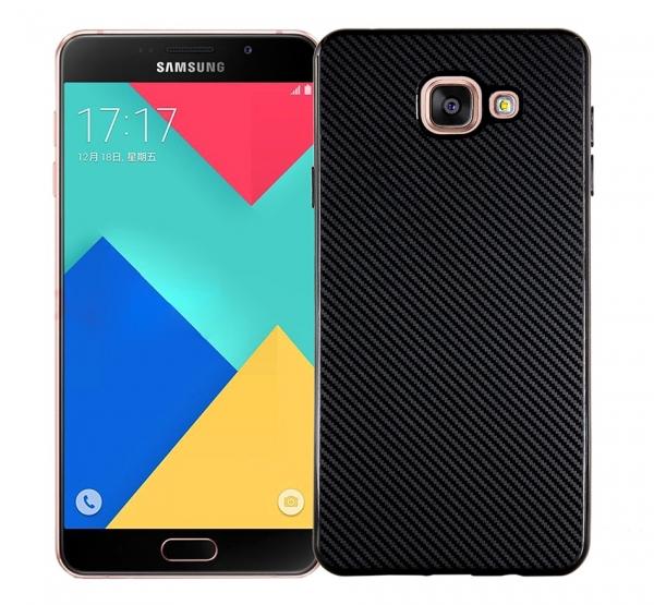 Husa Samsung Galaxy A3 (2016) i-Zore Carbon, Negru 0