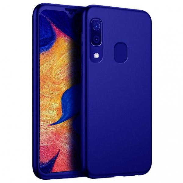 Husa Samsung Galaxy A40 Full Cover 360, Albastru [0]