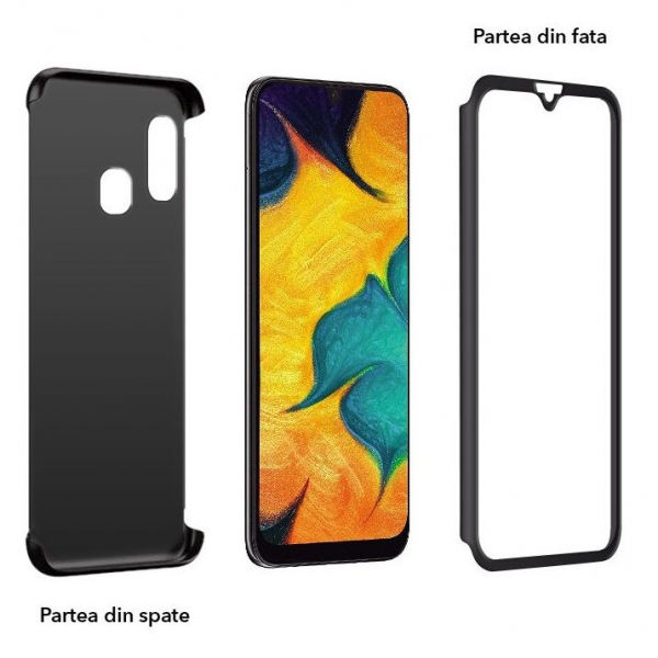 Husa Samsung Galaxy A40 Full Cover 360, Negru 1