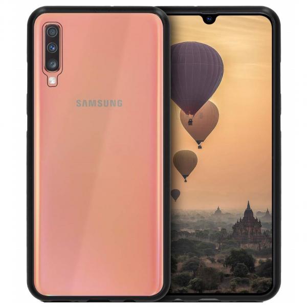 Husa Samsung Galaxy A50 Magnetic Glass 360 (sticla fata + spate), Negru 0