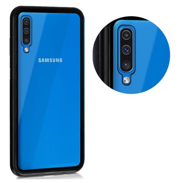 Husa Samsung Galaxy A50 Magnetic Glass 360 (sticla fata + spate), Negru 2