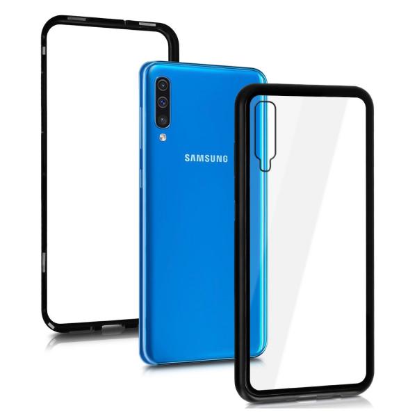 Husa Samsung Galaxy A50 Magnetic Glass 360 (sticla fata + spate), Negru 1