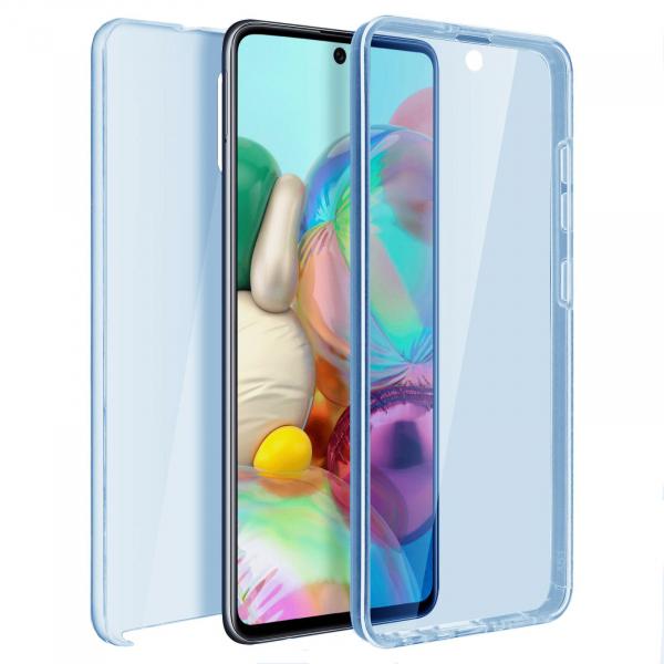 Husa Samsung Galaxy A51 Full TPU 360 (fata + spate), Albastru transparent 0